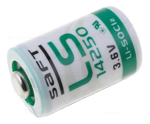 baterias saft ls14250 1/2aa 3.6v 1200mah