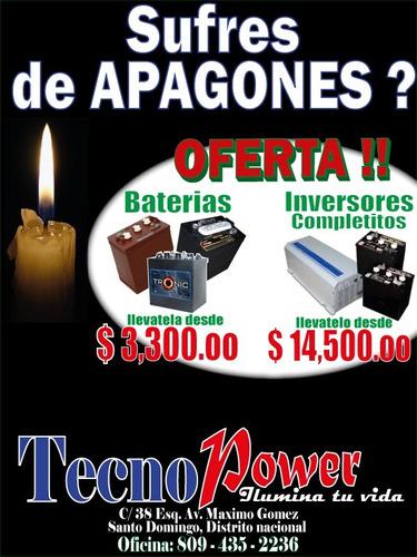 baterias trace t-215 de inversor .. $2,900 . cambia la vieja