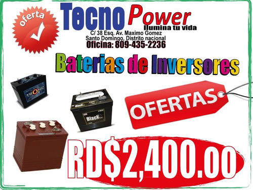 baterias trojan black (negra) para inversor .. en oferta