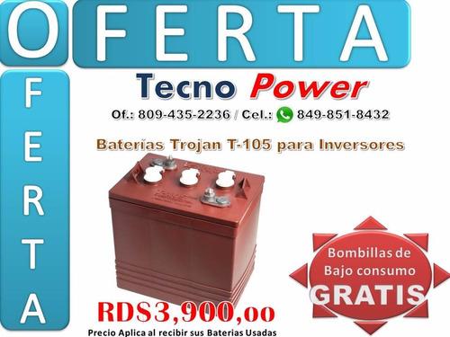 baterias . . trojan negras . . para inversores (liquidación)