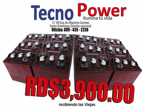 baterias trojan t-105 para inversor (la roja) original