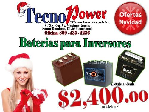 baterias tronic de inversores .. cambia las viejas..