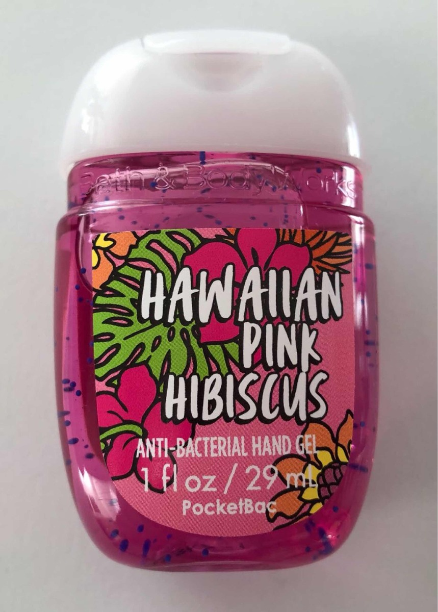 Bath Body Works álcool Em Gel Pocketbac Hawaiian Pink