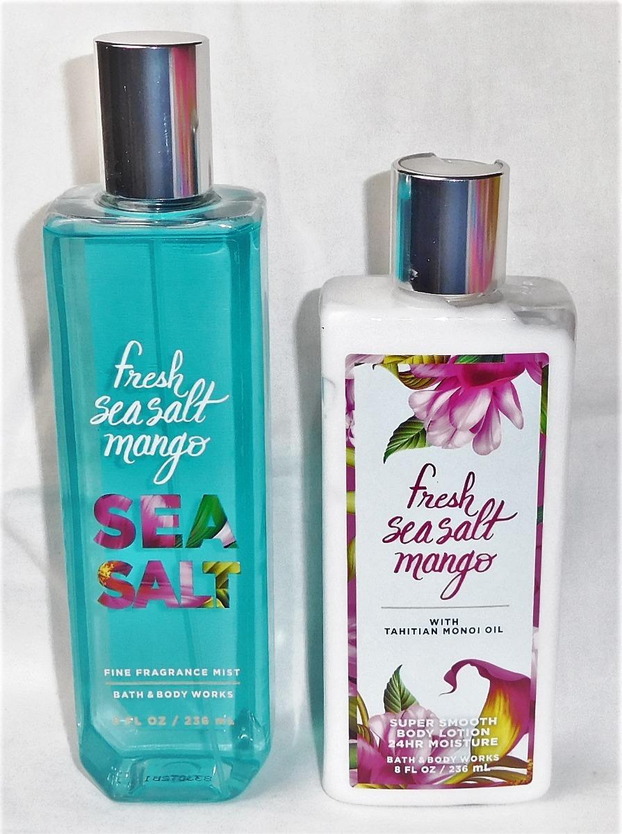 Bath Body Works Kit Sea Salt Mango Creme Mist Original R 18990