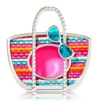 bath & body works - scentportable - visor clip - bolsa praia