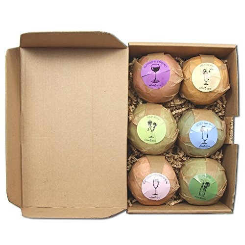 bath bombs xl gift set de 6, happy hour, libre de parabenos
