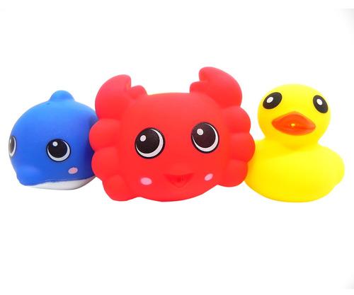 bathin buddies set de 6 piezas surtidas animalitos flotadore