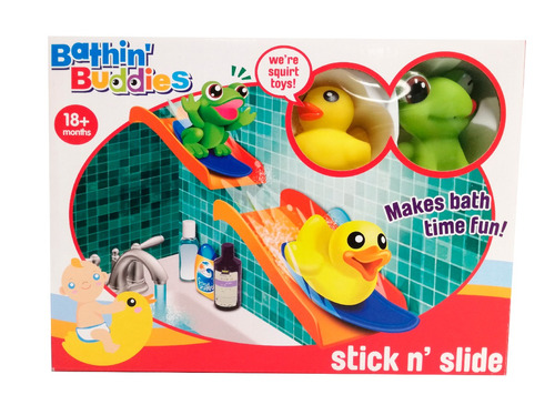 bathin buddies set de baño con animalitos deslizables con ve