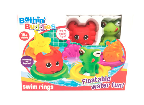bathin buddies set de baño con animalitos flotadores
