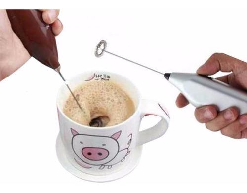 batidor electrico de cafe leche espuma tragos cremas a pila