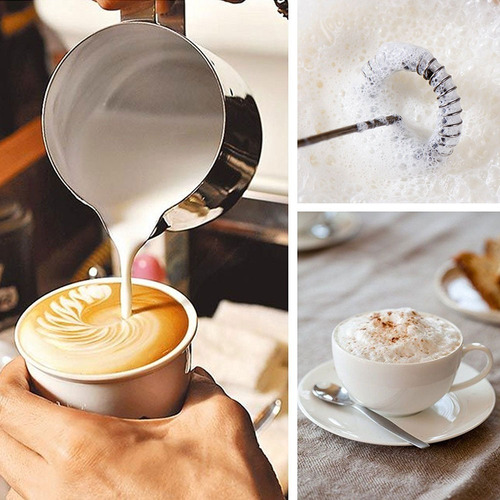 batidor electrico leche cafe espuma tragos crema a pilas