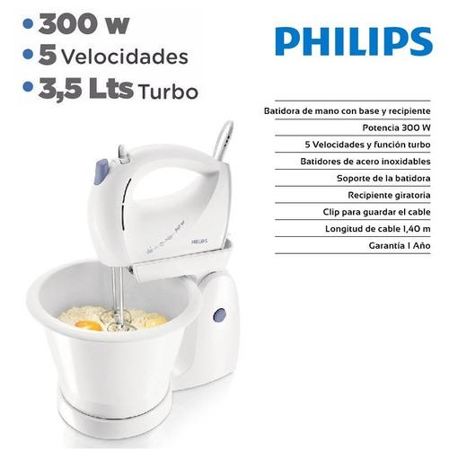 batidora + bowl philips hr1564 turbo 5 velocidad 300w