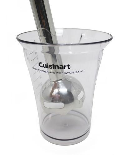 batidora de inmersión 2 velocidades con vaso blanco cuisinart csb75 rempacado