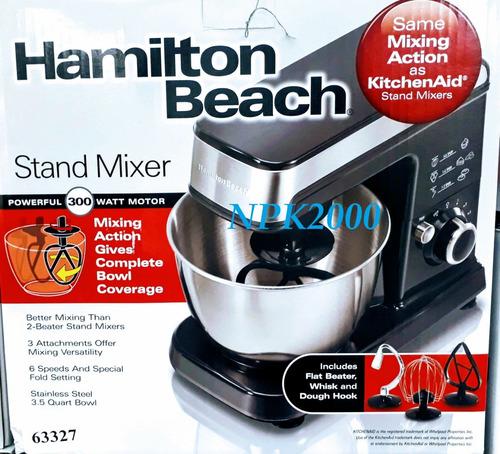batidora de pie hamilton beach 6 vel 300w 3.8l nuevo modelo