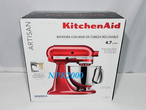 batidora kitchenaid artisan metal 5 qt 4.7 l. 10 vel. 325 w