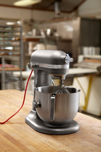 batidora kitchenaid comercial tazón elevable gris ksm8990dp