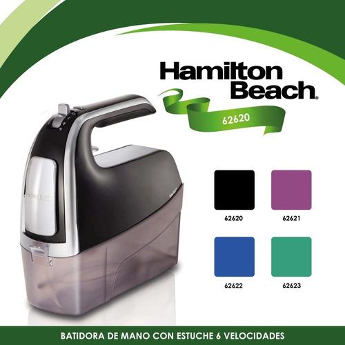 batidora manual con estuche negra hamilton beach 62620