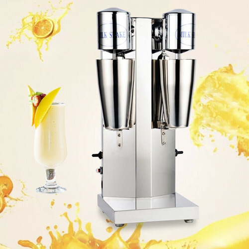 batidora milkshakes de acero inoxidable de 2 vasos