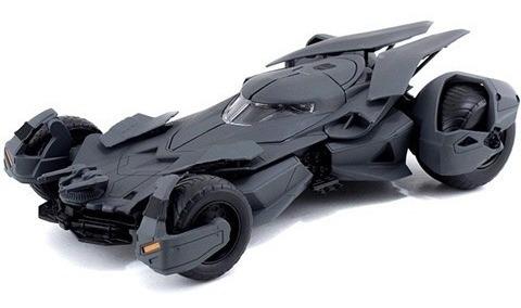 batimovil batman vs superman armable , metalico, 23cms ,1/24