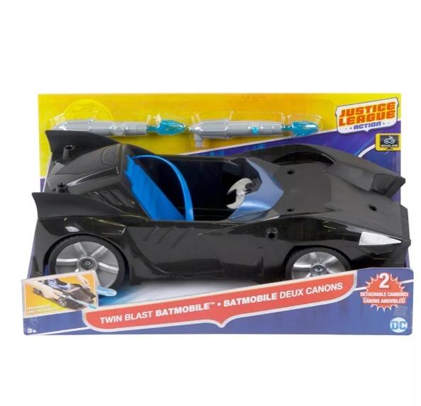 Batimovil Con Proyectiles Dc Comics Carro Batman Juguete Pp