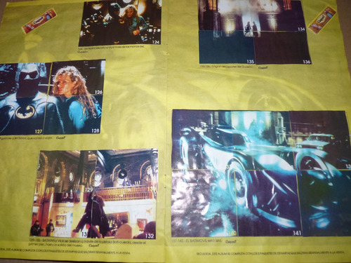 batman 1989 album de estampas lleno de carlos v coleccionabl