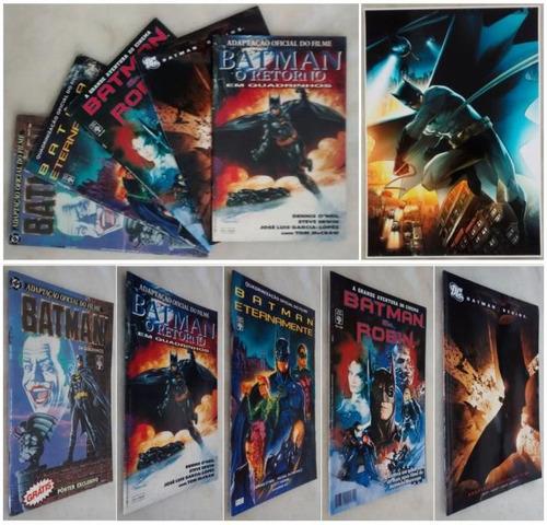batman adaptação quadrinização filmes coleção completa