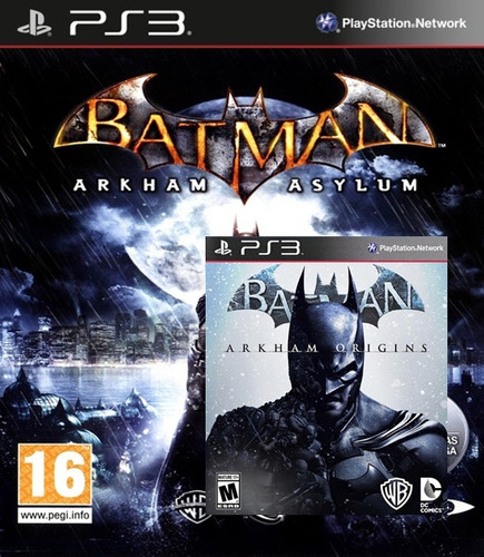 batman: arkham asylum + arkham origins (ps3)