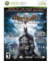 batman arkham asylum game of the year 3d xbox 360 nuevo