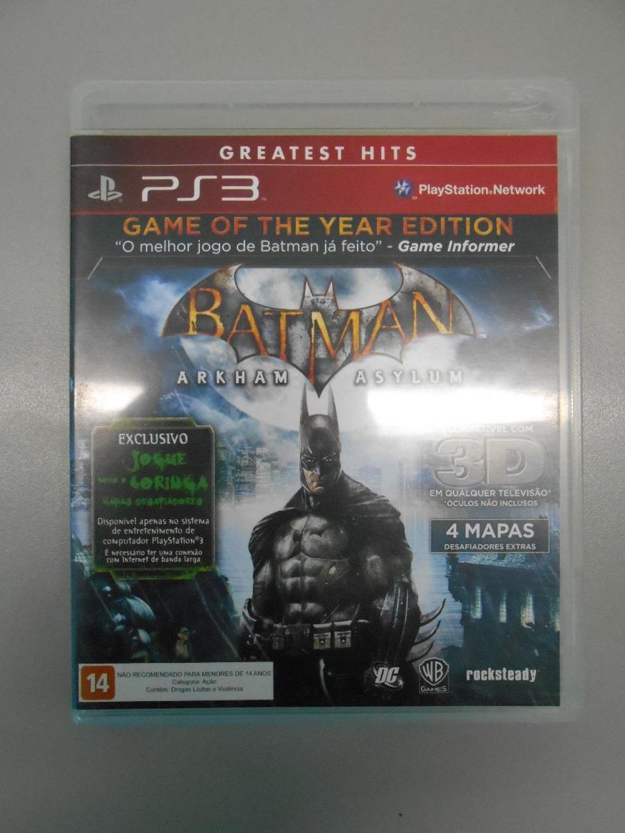 batman  arkham asylum - goty - playstation 3 (ps3). Carregando zoom. e3bef35f0ba