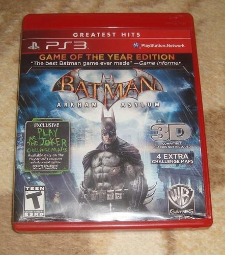 batman arkham asylum goty ps3 (en cd)