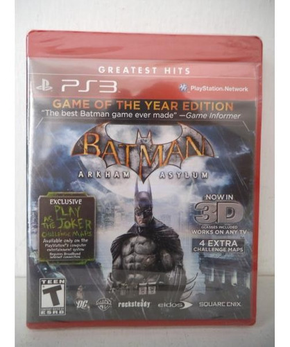 batman arkham asylum playstation ps3 juego fisico