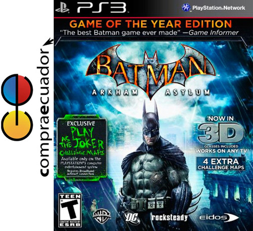 batman arkham asylum ps3 juego fisico original sellado