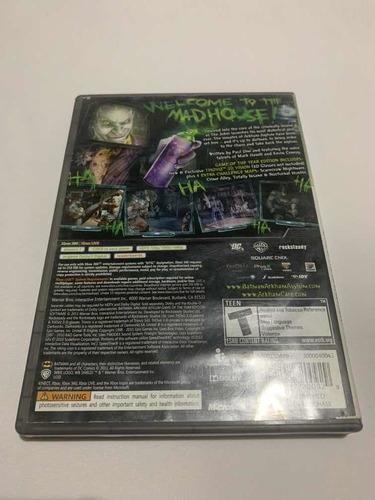 batman arkham asylum xbox 360 jogo original mídia física top