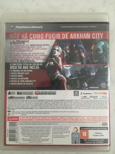 batman arkham city ed. especial conteúdo extra 3d game ps3