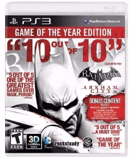 batman arkham city goty ps3 disco nuevo y sellado