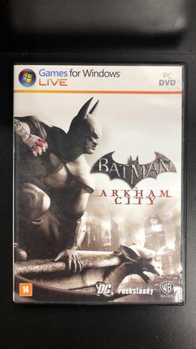 batman arkham city pc mídia física seminovo