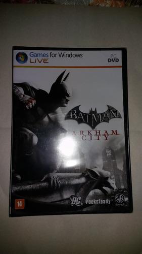 batman arkham city pc novo original lacrado mídia física