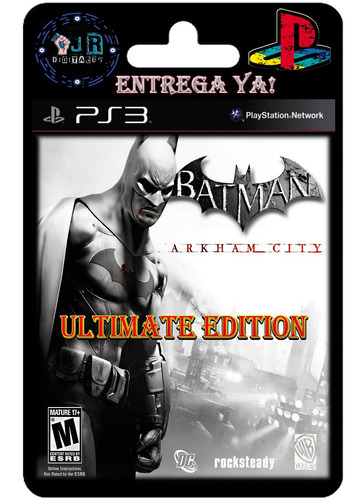 batman arkham city ultimate edition ps3 digital   disponible