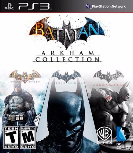 batman arkham collection 3 x 1 juegos digitales ps3 original