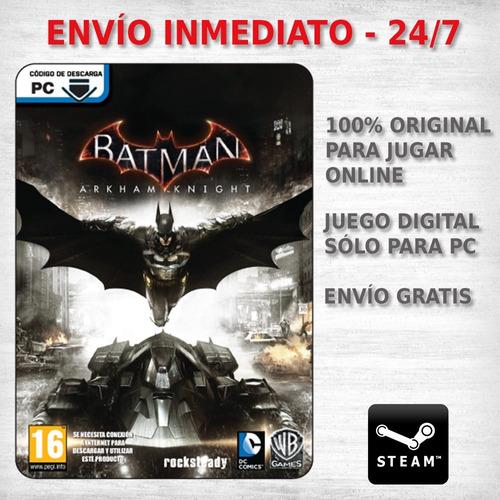 batman arkham knight pc juego steam pc original digital