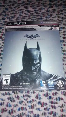 batman arkham origins - ps3 - caja de carton