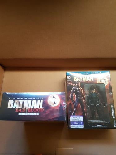 batman bad blood deluxe y figura latino , envio gratis!