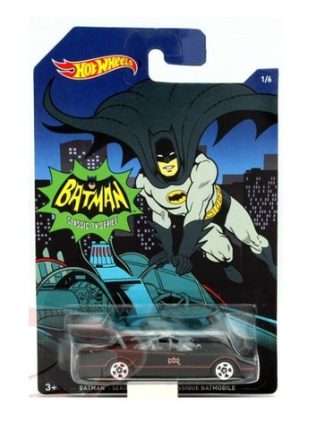 batman batimovil clasico classic tv escala 7cm hot wheels