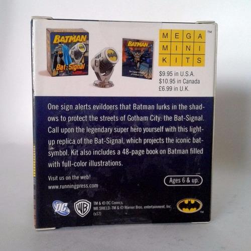 batman batiseñal mini lampara + libro de 48 pag dc comics