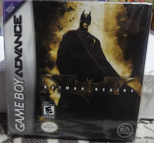 batman begins  gameboy advance con caja aqui en gamekiosko
