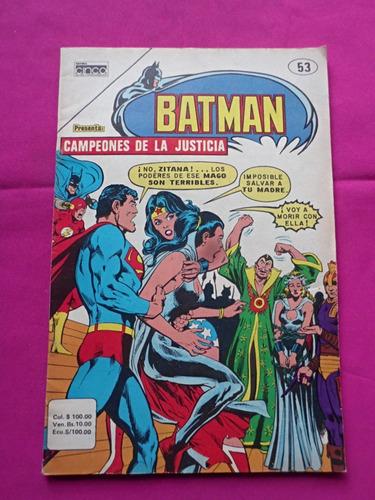 batman campeones de la justicia n° 53 dc editorial cinco