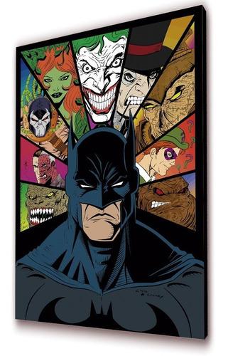 batman cuadro 50x30cms decorativo batman & villanos