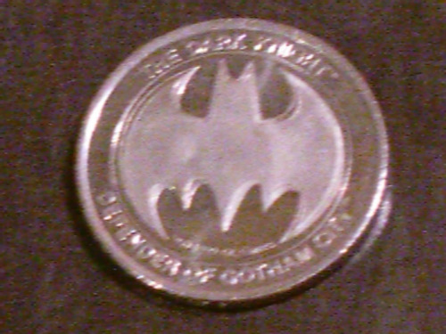 batman dark knight medalla moneda 60 años 1999 origen usa