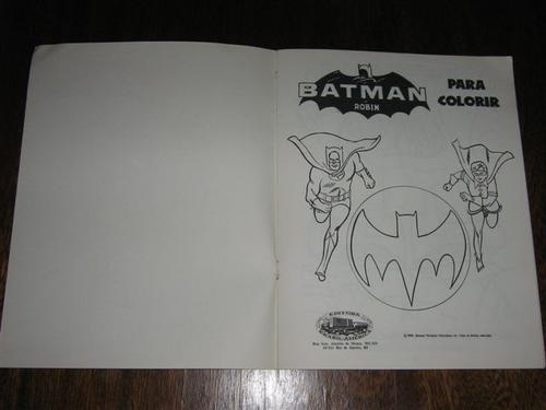 Batman E Robin Para Colorir Editora Ebal Col Super Herois 5 R