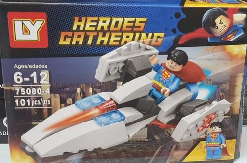 batman e super man com aviôes lego promoção barato